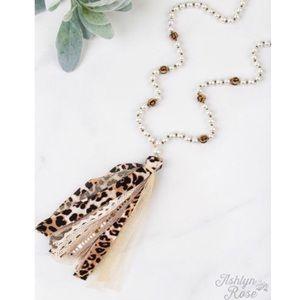 Walk On The Wild Side Leopard Tassel Necklace